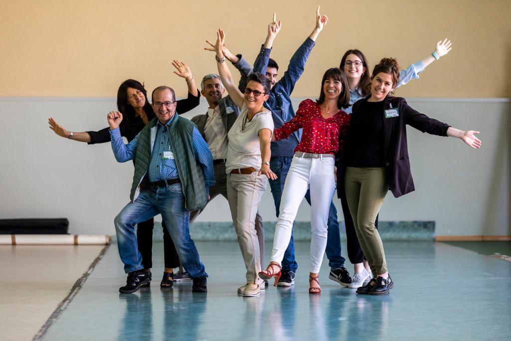 Lo staff della Federazione Trentina Pro Loco con i ragazzi del servizio civile (manca solo Ivo)