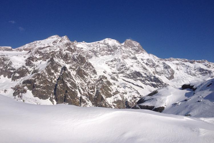 Alagna Valsesia, massiccio del Monte Rosa dalle Pisse