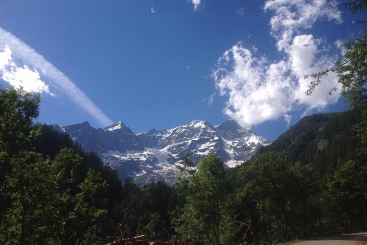 Alagna Valsesia, panorama del Monte Rosa