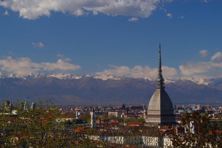 Torino, panorama sulla città.