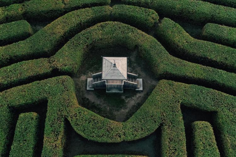 Giardino labirinto del Castello di Masino