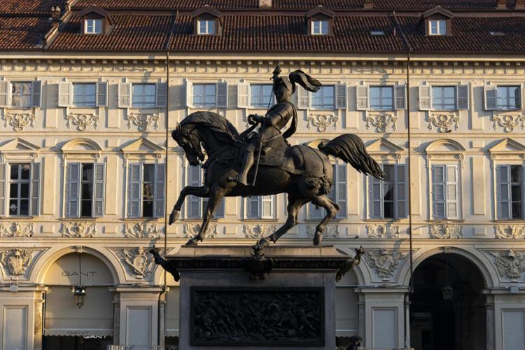 Torino, Piazza San Carlo, Monumento a Emanuele Filiberto di Savoia